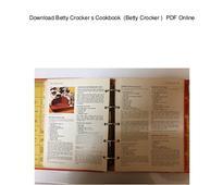 Download Betty Crocker s Cookbook  (Betty Crocker )  PDF Online