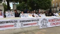 Sindhis protest outside 10 Downing Street, submit petition to UK PM against Pakistan