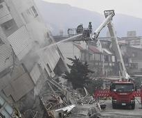 6 dead, 88 missing after strong quake in Taiwan topples buildings