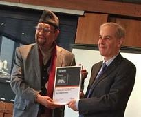Dr Mahat collects The Banker's Best Finance Minister Award