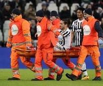 Juve defender Caceres out for rest of the season