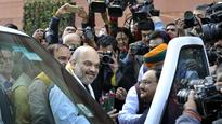 Winter session of Parliament: Amit Shah gets royal welcome from BJP MPs on first day in Rajya Sabha