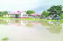 Wards flooded as JMCH roof caves in