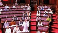 Rajnath Singh rescues a fumbling Hansraj Gangaram Ahir in Rajya Sabha
