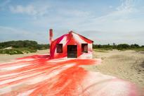 A German Artist Spray-Painted a Building Destroyed by Sandy Before It's Demolished
