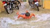 Heavy showers lash Pink City