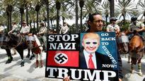 CBS US News: Police break up Trump protest in Anaheim