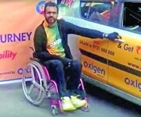 Paraplegic drives from Leh to Kanyakumari in record time
