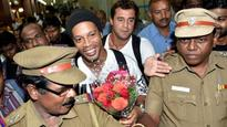 Football legend Ronaldinho has arrived in Chennai for Premier Futsal