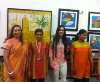 Tara Sharma Visits Art trisomy 21- An art exhibition by the specially abled individuals