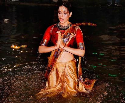 Watch: Kangana trains for sword fights