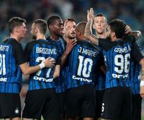 Pre-season friendlies: Stevan Jovetic fires Inter Milan to narrow win over Lyon on bumpy Shanghai pitch