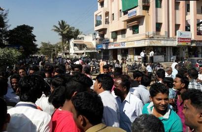 12 hurt as car rams into queue outside ATM