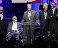 Hurricane relief: Trump commends ex-presidents as 'finest public servants'