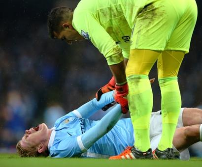 De Bruyne faces a potentially lengthy spell on the sidelines
