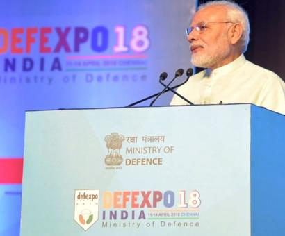 At Defence Expo, PM slams laziness, incompetence, hidden motives