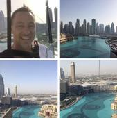 John Terry looks SO happy ziplining in Dubai you can't help but laugh