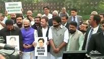 Rahul Gandhi joins protest over E Ahamed's death inside Parliament complex