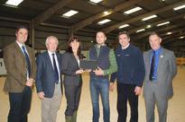 Carmarthenshire farmer Iwan Francis winner of NFU Cymru Dairy Stockperson