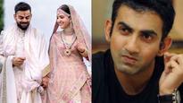 Gautam Gambhir backs Virat Kohli-Anushka Sharma on Italy marriage criticism
