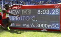 Kipruto wins 3,000m steeplechase