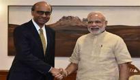 Singapore's Deputy PM Tharman Shanmugaratnam calls on PM Modi