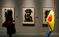 Europe Joan Miro exhibit opens in Milan showing technique, material