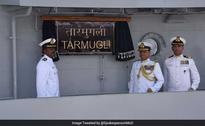 INS Tarmugli Commissioned Into Indian Navy In Visakhapatnam