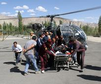Rescue operation by IAF helicopters at Pang