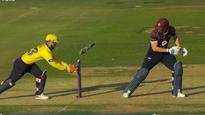 Watch: Wade's stumping 'habit' saves Wakely from getting hit wicket