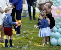 U.K. royal kids make rare party showing in Victoria, balloons and all