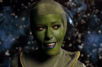 Kendra Wilkinson transforms into an alien for bizarre Lost In Space video as she launches music career