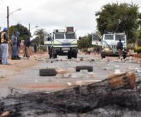 Building torched over 'broken promises'