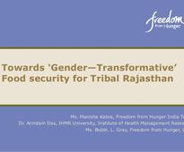 IFPRI- Food Security of Women in Tribal Rajasthan- Manisha Kabra