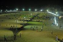 Beach at the Cauvery this summer