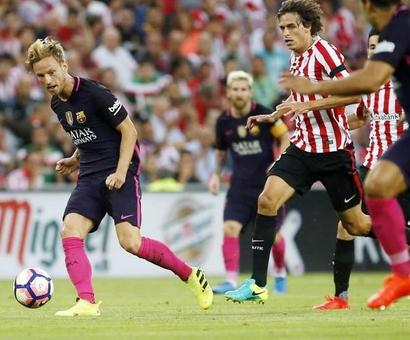 La Liga: Rakitic header earns Barca victory in Bilbao