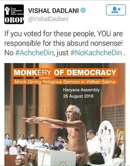 Vishal Dadlani quits politics after sarcastic tweet about Jain guru backfires