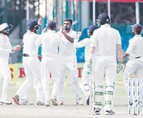India tighten grip on first Test