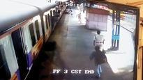 Man slips on chutney, goes under train, saved