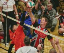 US Wounded Warriors Play Volleyball Against Prince Harry And British Team