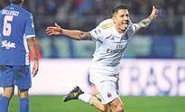 Lapadula brace lifts Milan to second