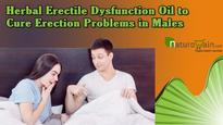 Herbal erectile dysfunction oil to cure erection problems in males