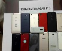 Four looters nabbed, 13 mobile phones, 2 bikes seized