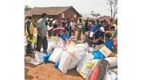 Food Army gives away grains in six villages