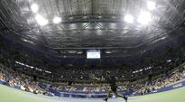 US Open closes Arthur Ashe roof for first time during match
