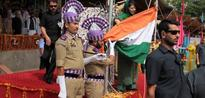Indian flag falls off post as Chief Minister Mehbooba Mufti unfurls it