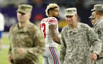 Giants punter defends Odell Beckham Jr. with video of OBJ supporting the troops