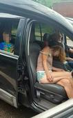 Boy photographed in car with 'overdosed' parents gets new home