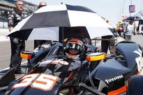 Alex Tagliani crashes during Indy 500 qualifying