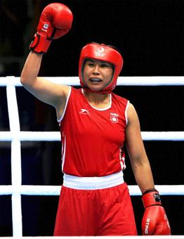 Boxer Sarita Devi producing champions in her academy